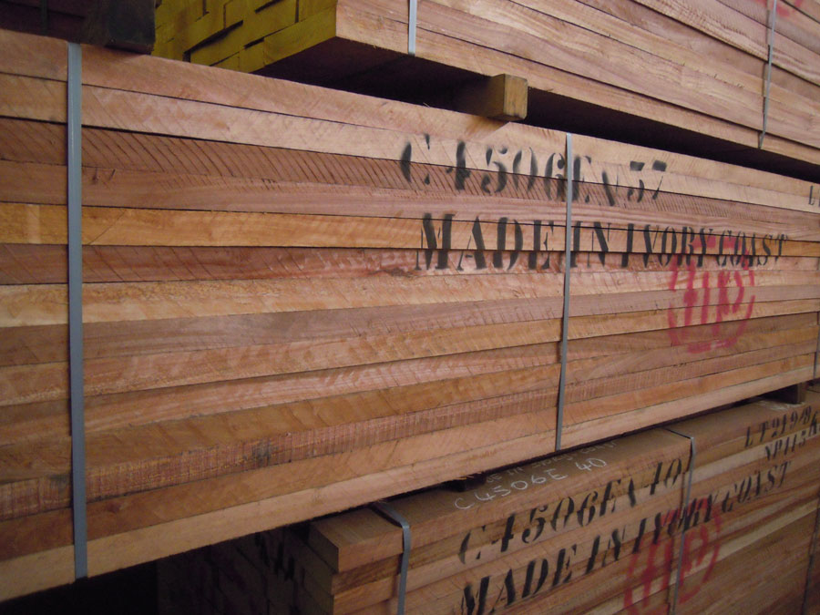 Sawn timber wood kotibe